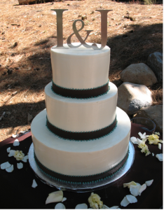 Letters wedding cake toppers