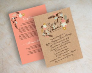 boho chic wedding invitation