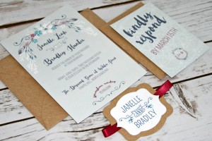 boho chic wedding invitation2