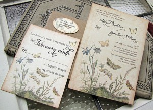 vintage wedding invitation2